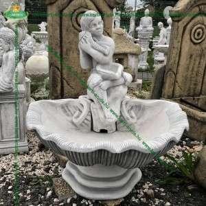 Fagyálló kerti csobogó kőből