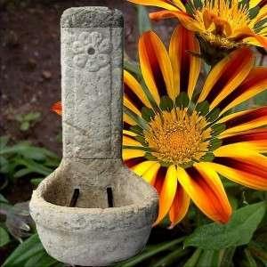Ivókút díszkút virágos