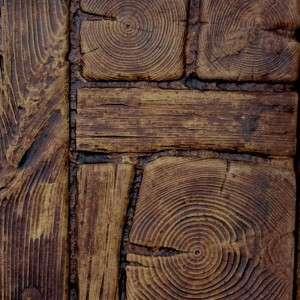Kerti tipegő fából mintázott kőkocka Akciós