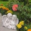Angyal pár kőből dekoráció
