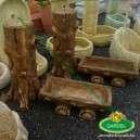 Fahatású kőből készült kerti kút