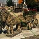 Lovas szekér eladó lovas dekoráció szobor