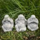 Buddha nem hall nem lát nem beszél szobor