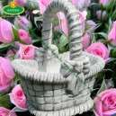 Kővirágtartó kosár