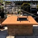 Kerti kő grill
