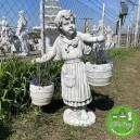Vízhordó lány új szobor
