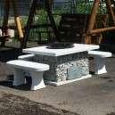 Családi bográcsozó grillező padokkal