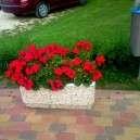 Fehérkavicsos virág láda kültéri 80cm